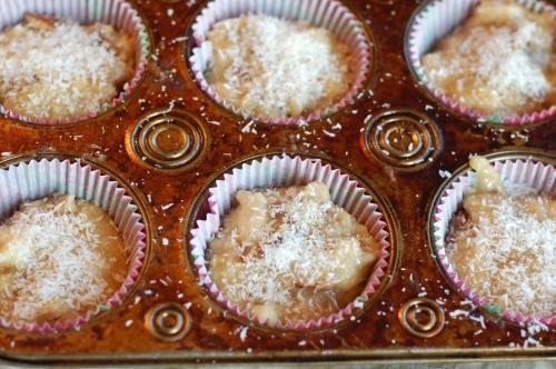 banana-coconut muffins (pre-bake)