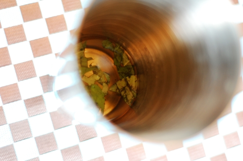 tequila macerating basil