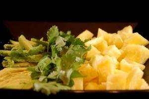 avocado cilantro pineapple