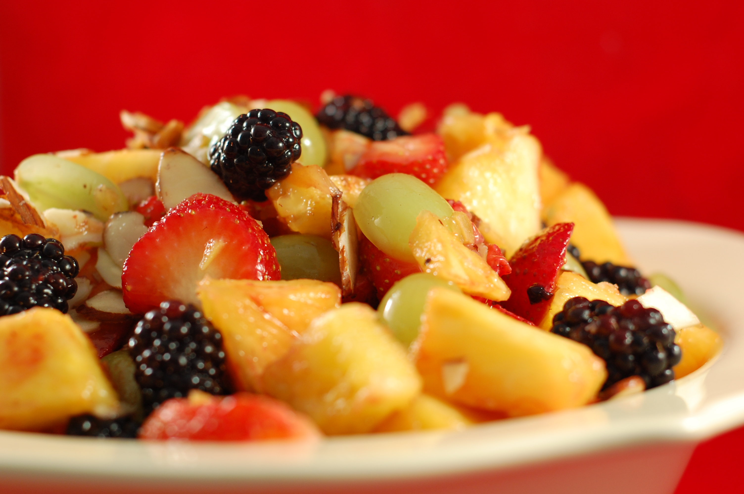 fruit salad from the side