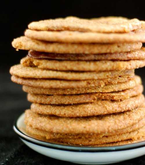 molasses cookies stacked