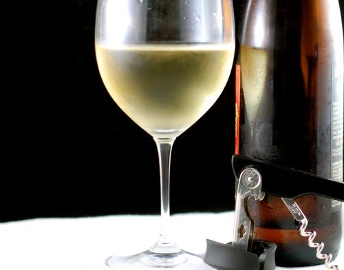 wine tasting set-up