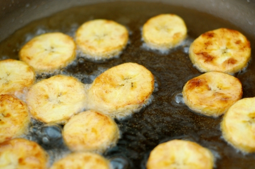 plantains frying again