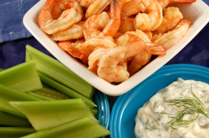 shrimp, celery, & blue cheese