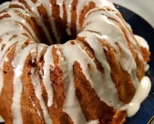 brown sugar pound cake top view