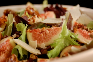 zoomed in fig salad