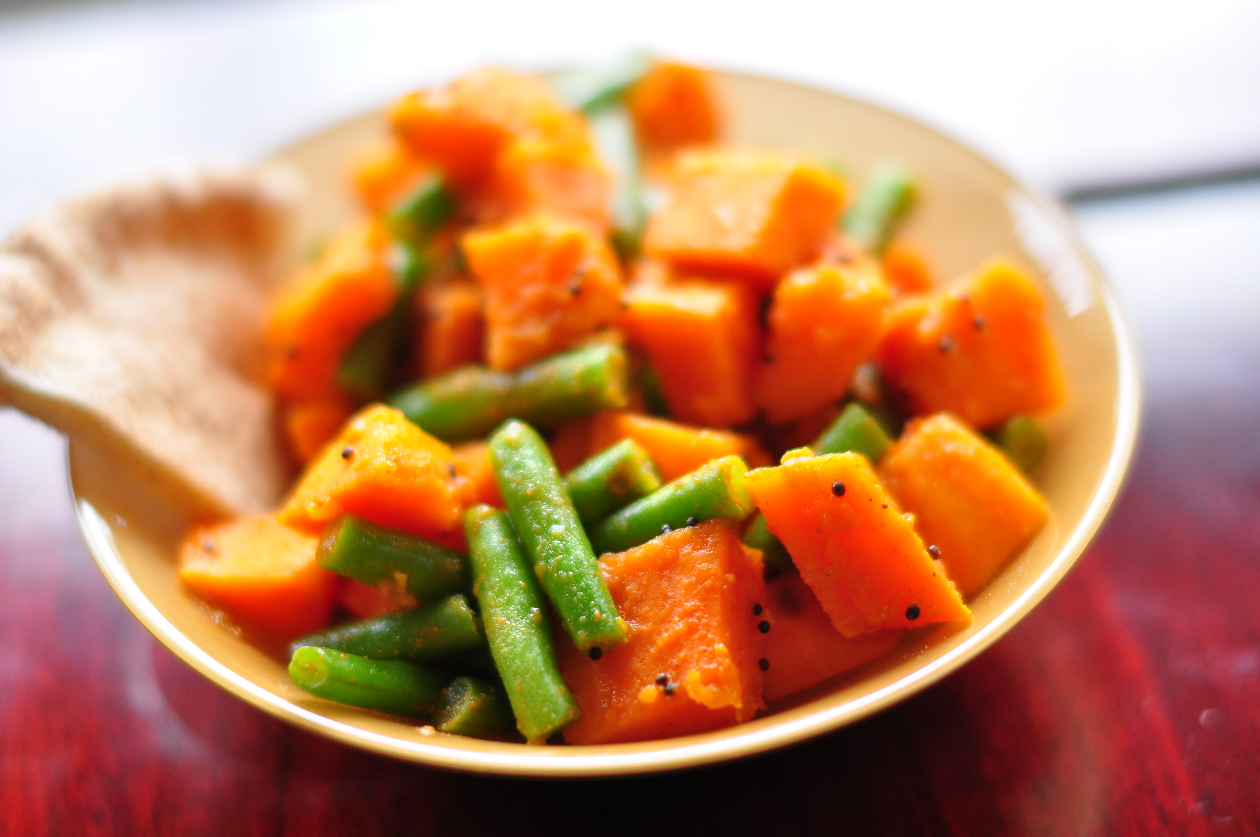 THE FOOD OF MY PEOPLE: GREEN BEAN & SWEET POTATO SABJI